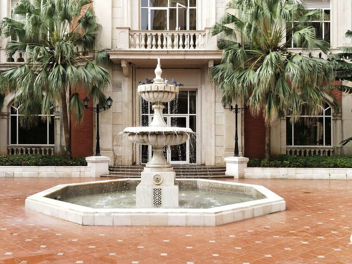 Fountain Architecture Building Exterior Built Structure Tree Architectural Feature Water Statue Drinking Fountain Luxury Outdoors Sculpture No People Plant Day Flowerbed Nature