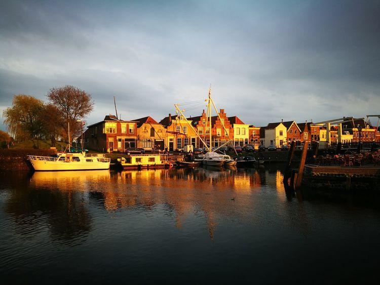 Reflection Water Cloud - Sky History River Brielle Dutch Harbours Dutch Harbor Scenics Dutch Rustic Tourism Travel Destinations Rustic Style