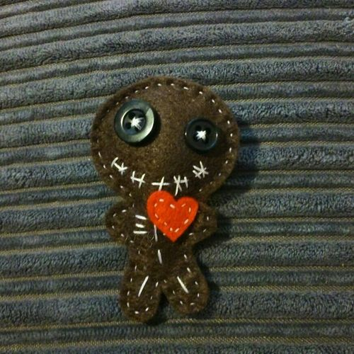 Brooch Pin Cute Voodoo Doll