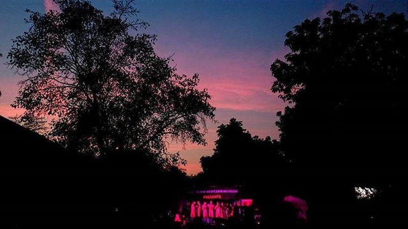 Good music and pretty sunsets. Surmanjari 2016. KMC. Sunset Musicfest Delhiuniversity Du GoodTimes Lastfewmonthsofcollege