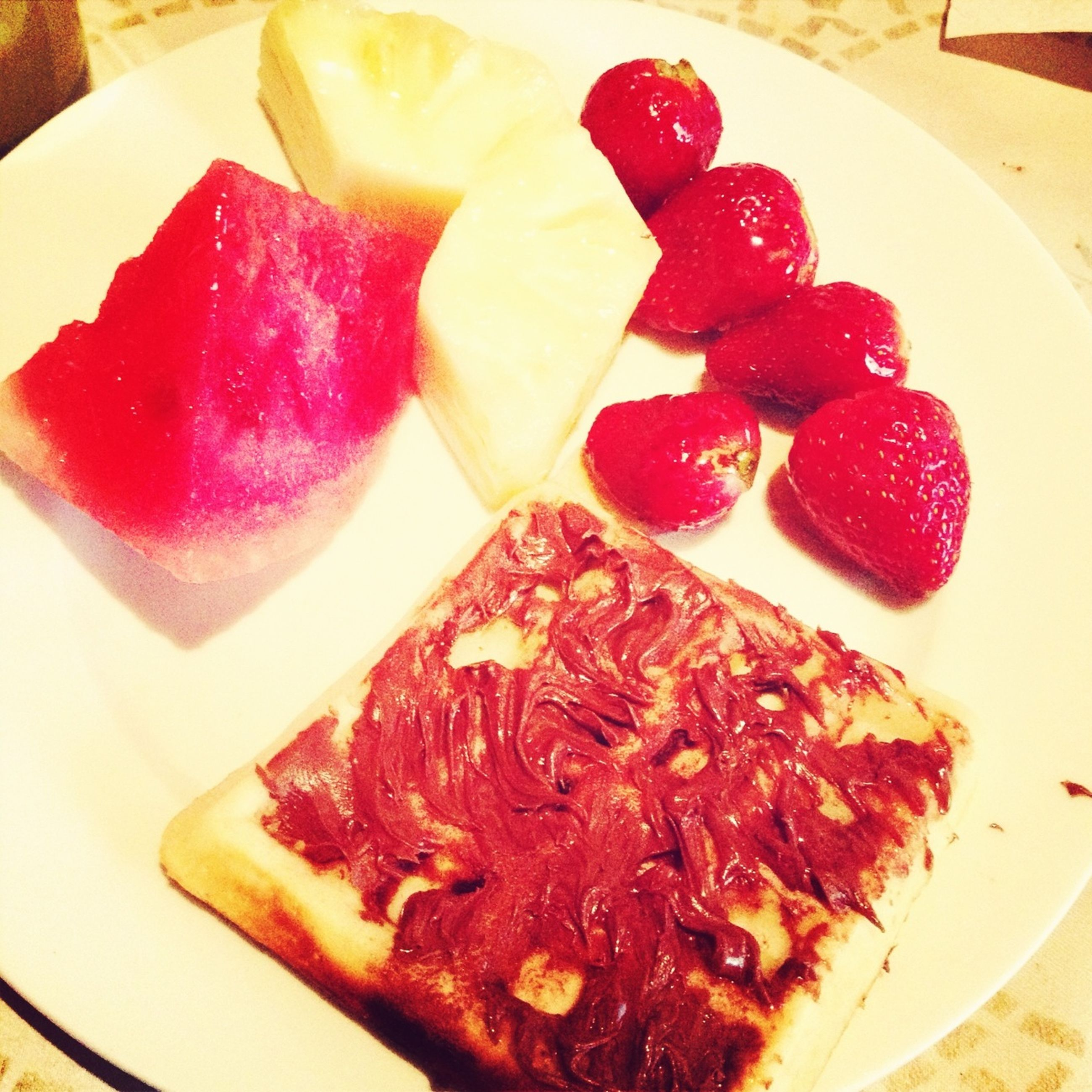 food and drink, food, freshness, indoors, ready-to-eat, strawberry, plate, fruit, still life, indulgence, sweet food, red, healthy eating, serving size, dessert, slice, temptation, table, close-up
