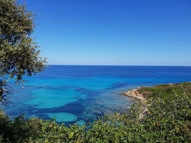 Idyllic Rocks Coast Line  Water Tree Clear Sky Sea Blue Beach Sky Horizon Over Water