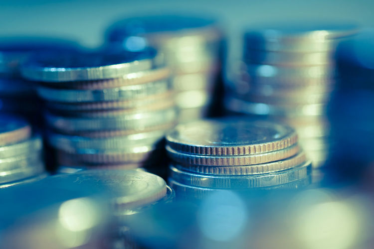 Money coins for success , banking , finance and business concept background