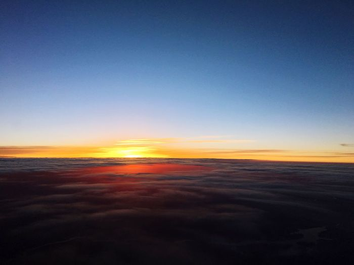 Sunrise A Bird's Eye View Flying Flying High Aerial View Scenics Beauty In Nature