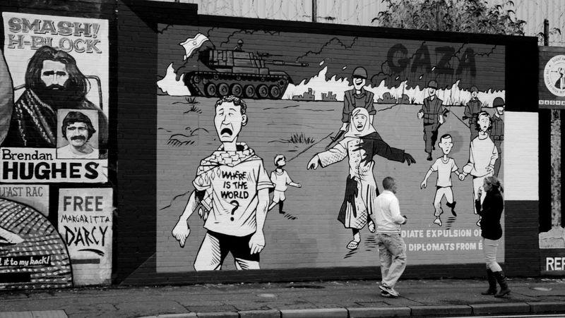 West Belfast street murals. Belfast Black Taxi Falls Road Gaza Murals Political Murals Street Art Streetphotography West Belfast