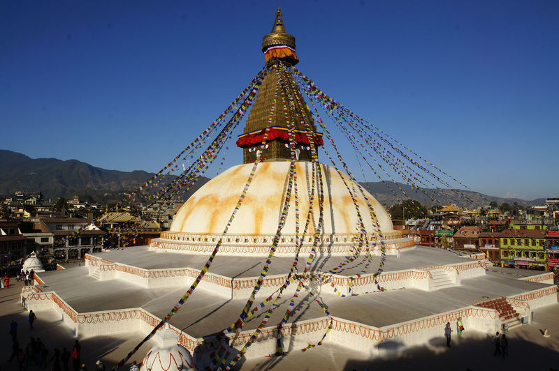 View of stupa against sky
