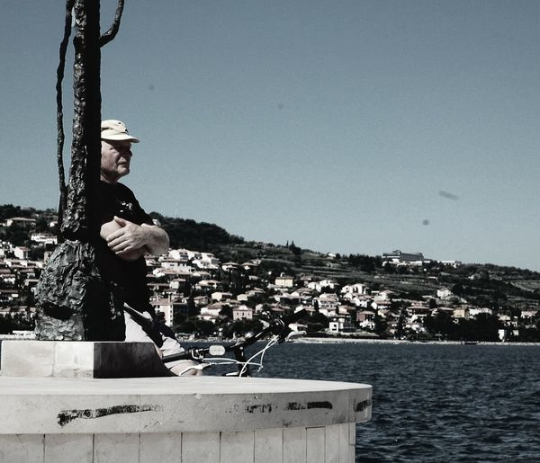 Sea Outdoors Relaxation Men Oldmanandsea Koper Slovenia Lookinthepast Retro Onemanisnotislandforitself