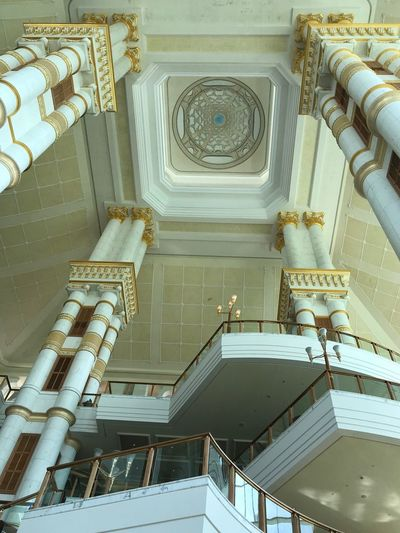 The height of luxury.... Architecture Built Structure Low Angle View No People Staircase Indoors  Steps And Staircases Day Travel Memories Brunei Darussalam Travelphotography Travel Photography Travel Destinations Interior Design Interior Architecture Eye4photography  Architectural Column Traveling Enjoying Life