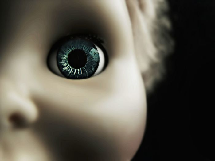 Macro Shot Of Doll Eye