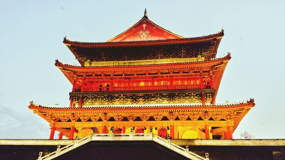 Drum Tower at Xi'an Xi'an Drum Tower Tower China Chinese History Historical Shaanxi Province Shaanxi Old Town Outdoors Downtown ASIA Miles Away