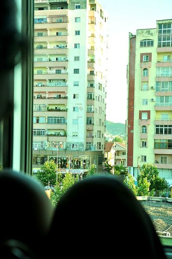 Tirana Albania Tirana's View Lostintranslation Solitude Urbanisation Colourful Buildings Silouette & Sky Silohuette Theartofslowliving Eyemphotography Eyem Best Shots Citylife Sunshine Day