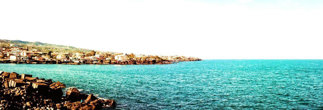 Con i piedi per terra stateci voi, che io voglio vedere il mare. Water Sea Clear Sky Sky Horizon Over Water Tranquil Scene Calm Coast Seascape