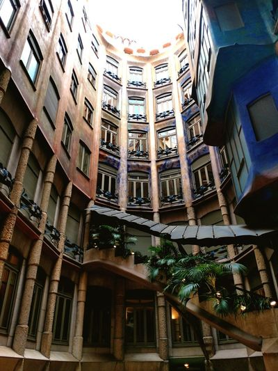 Architecture Apartment Travel Destinations Illuminated No People ArchiTexture Low Angle View Streetphotography City Life City Gaudi Turistic Places Walking Around Architecturephotography Detail SPAIN Travel Barcelona Architecturelovers Lifestyle La Pedrera, Casa Milá Architecture Quiet Moments Colorful