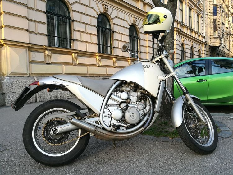 Transportation City Mode Of Transport Built Structure Building Exterior Outdoors No People Architecture Day Motorcycle Motorcycles Motorbike Motor Vehicle Motorcycle Photography Aprilia Moto Motor