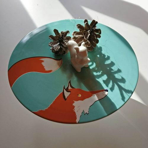 No People Indoors  Food Healthy Eating Day Artsy Art And Craft Cute Orange étagère Cake Plate Cakestand Table Setting Table Decoration Interior Autumn Foxes Fox Decorative Decor Decoration Table Xmas Fall Squirrel