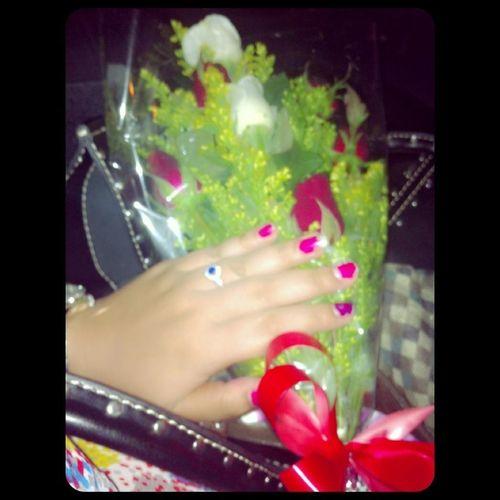thanks for surprise Flower&ring
