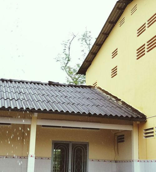 Architecture Roof Nature Sky No People Roof Tile Rain