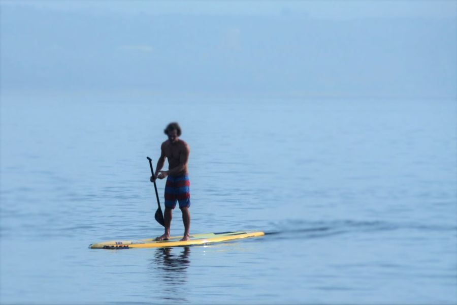 Blue Wave Day Enjoyment Fun Times Leisure Activity Outdoors Paddle Paddleboarding Surfers Vacations Water Alternative Fitness