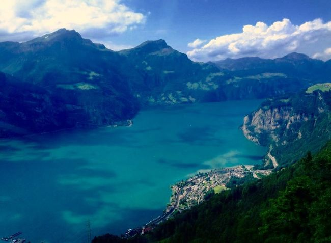 Hello World Check This Out Taking Photos Enjoying Life Nature Mountains Lake Summer Sun Switzerland