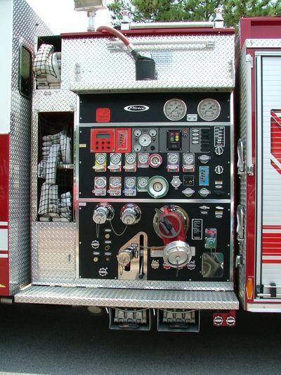 Close-up Emergency Vehicle Fire Truck Fire Truck Gauges Fire Truck Panels Fire Trucks No People Trucks