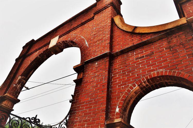 Gateway Gate Georgia Oakland Cemetery, Atlanta Georgia Textures Atlanta Brick Historic Point Of View