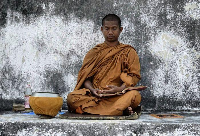 Monk in Sukhothai, Thailand. Portrait Spirituality Lotus Position Zen-like Buddhism Monk  Thailand Sukhothai Thailand_allshots Streetphotography Streetphoto_color Tolerance The Street Photographer - 2016 EyeEm Awards Deep Thoughts Purposedrivenlife Purposeful