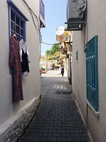 Fashion Mediterranean  Turkey Alley Architecture Building Exterior Built Structure Clothes Clothing Corner Shop Hanging Marmaris Shop Store Street