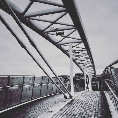 Oldham Bridge Built Structure Architecture Bridge - Man Made Structure Railing Connection Day Metal Sky Low Angle View Outdoors No People manchester