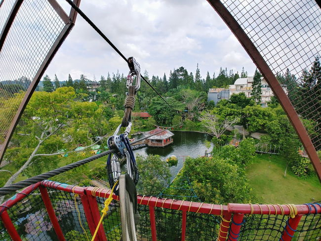 No People Day Sky Outdoors Tree Nature Water Greenhouse Flying Fox Mountain High Rope Safety Sky And Clouds Outdoor Activity Outdoor Activity EyeEmNewHere