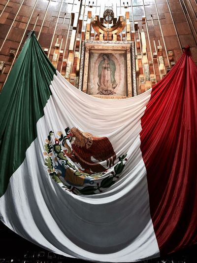 Religion Indoors  Spirituality Place Of Worship No People Day Virgen De Guadalupe Bacilica Mexico