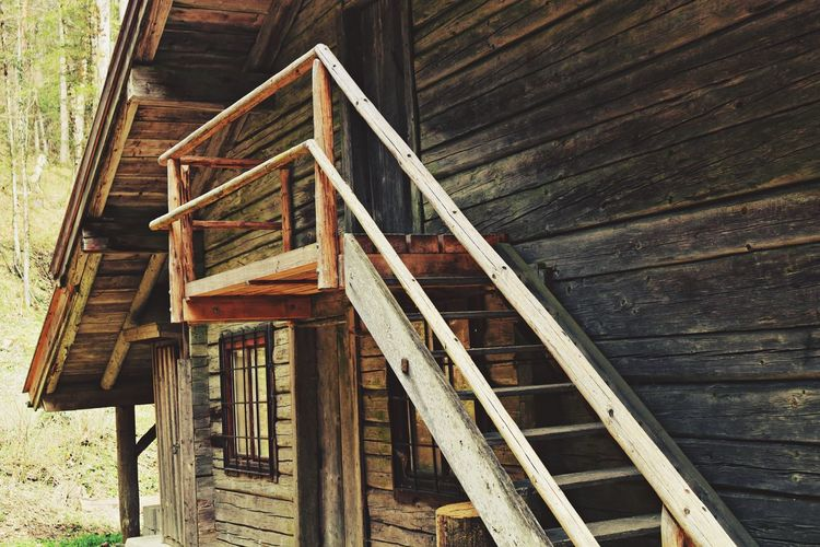 Architecture Brown Built Structure Close-up Day Deterioration No People Non Urban Scene Non-urban Scene Old Old House Outdoors Rail Remote Stages Stairway Window Wood Wood - Material Wooden Woodhouse
