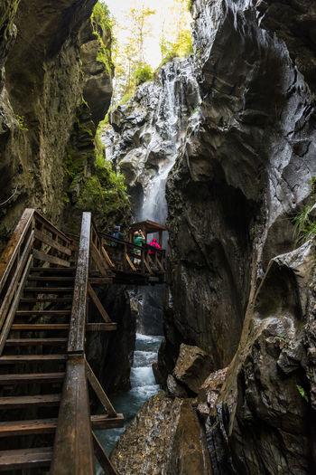 Hohe Tauern Kapruner Ache Klamm Pinzgau Salzburger Land Sigmund-Thun Klamm Bewegung Kaprun Schlucht Tag Wandern Wasser Wasserfall Österreich