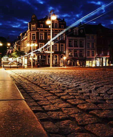 Maastricht nightscape Night Architecture Illuminated Built Structure Building Exterior Outdoors City No People Cityscape Maastricht Holland Maastricht Landscape light and reflection Lighttrailsphotography Nighttrails Cityscape Night Photography Holland 💕