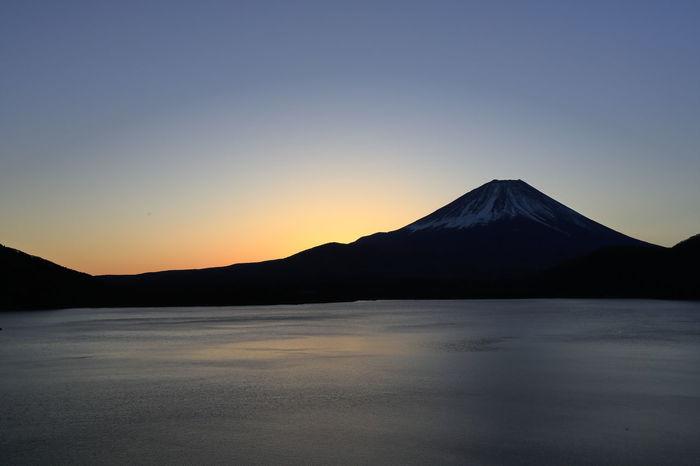 Lake Motosu and Mt. Fuji Mt.Fuji Mountain Scenics - Nature Sky Water No People Sunset Outdoors Beauty In Nature Motosuko Motosulake Worldheritage Winter Japanese  Fujisan Fujiyama