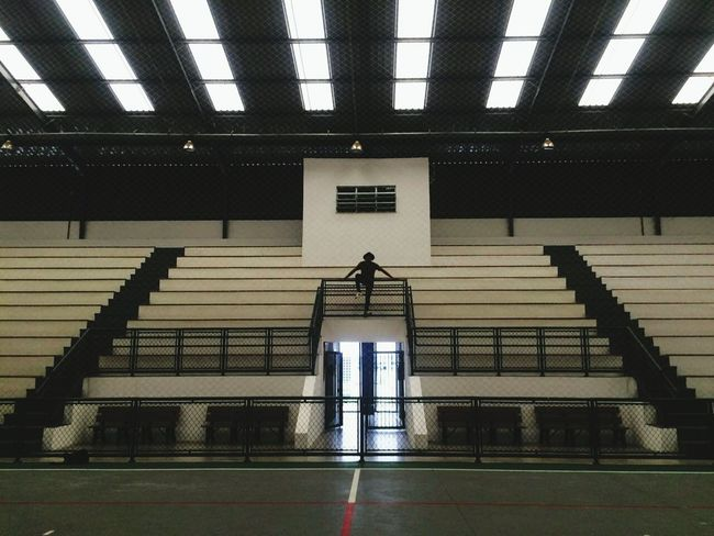 Long Goodbye Indoors  Architecture Steps And Staircases Built Structure Basketball - Sport Sport Day People Only Men Adult Adults Only Boxing Ring