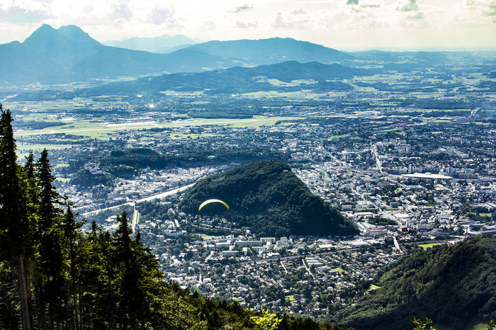 Paragliding over Salzburg Adventure Aerial Architecture Austria Beauty In Nature Day Extreme Sports High Angle View Landscape Mountain Mountain Range Nature No People Oesterreich Outdoors Paragliding Salzburg Salzburg, Austria Scenics Sky Tranquil Scene Tranquility Transportation Travel Destinations Tree
