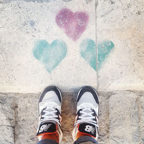 Shoe Human Body Part One Person Real People Human Leg Lifestyles Standing Day Outdoors People Adult One Man Only Adults Only Love Heart Heart Shape