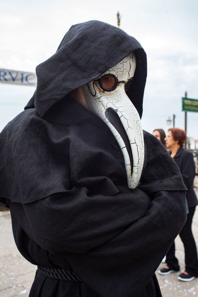 Carnival Carnival In Venice Venice, Italy Carnival Masks Childhood Close-up Day Focus On Foreground Hood - Clothing Hooded Shirt Mask - Disguise Men One Person Outdoors People Real People Rear View Sky Standing Venetian Event Venetian Masks Warm Clothing