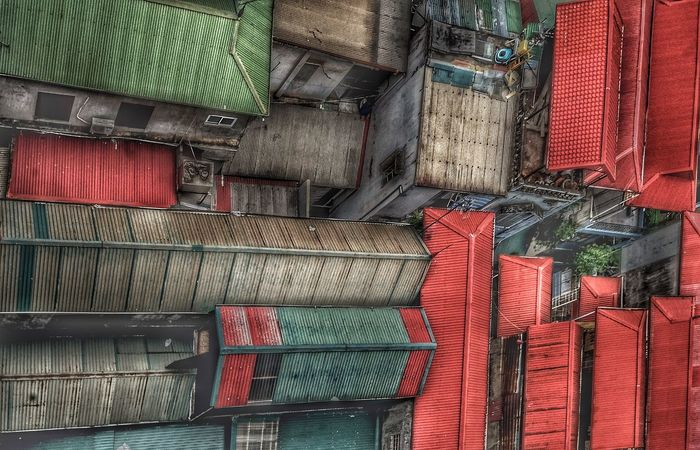 Houses Fuji Xt20 Large Group Of Objects Full Frame Backgrounds Multi Colored Textile No People Abundance Arrangement Day Pattern Red