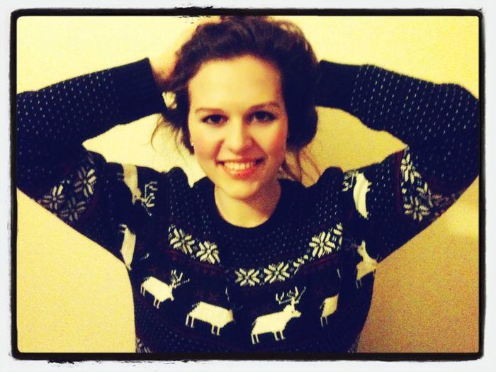 Pożegnanie z ukochanym świątecznym sweterkiem... Do przyszłego roku!