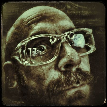 DOCTOR ME Art Edited Filtered Image Men Human Face Depression - Sadness Portrait Close-up Thoughtful Vision Glasses Transfer Print
