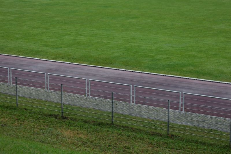 Grass No People Outdoors Green Color Field Day Soccer Soccer Field Nature American Football Field Pattern Munich, Germany Olympic Park  Perspectives On Nature