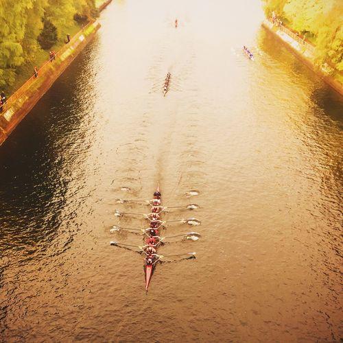 Charging down the cut. Rowing Gonzaga Headofthelake Seattle