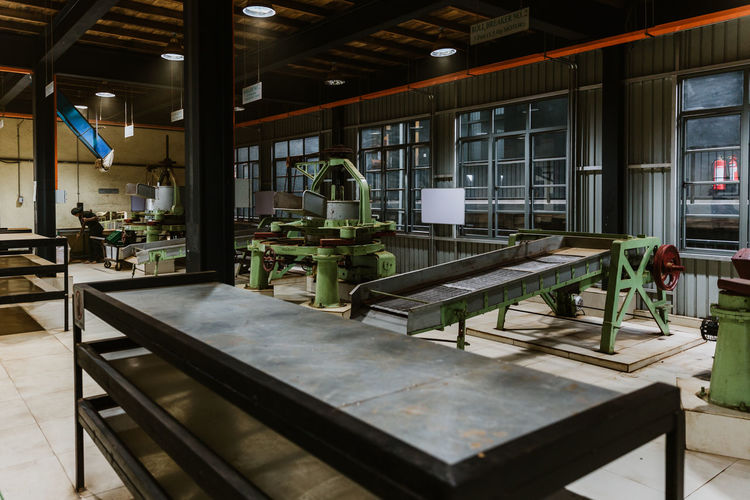 Machinery in factory