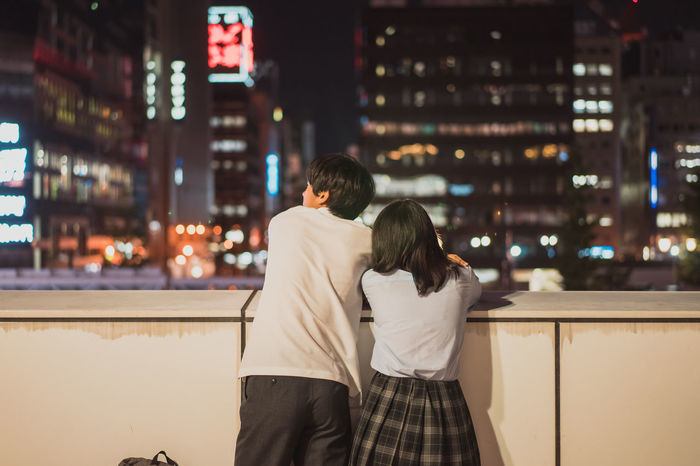 Love night Adults Only City City Life Cityscape Couple - Relationship Date Night - Romance Dating Girl Heterosexual Couple Love Men Night Nightlife Outdoors People Rear View Romance Togetherness Travel Destinations Two People Women Young Women