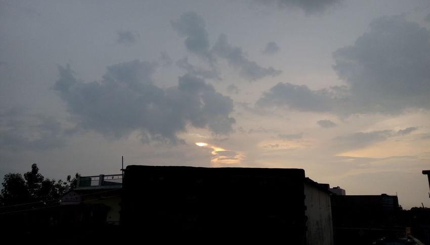 After rain amazing sunset Sky Nature