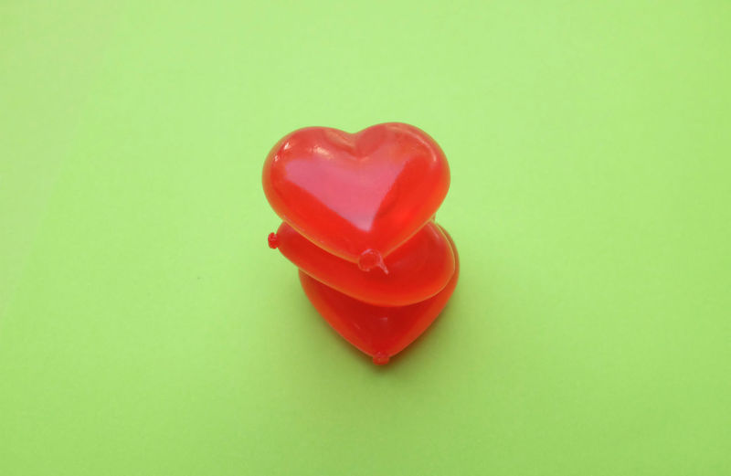 Red heart on a