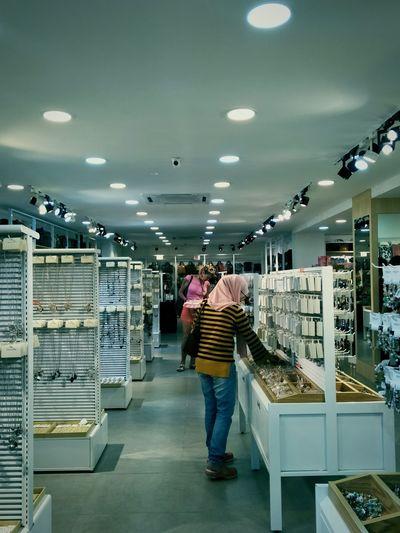 Jewelry Store Customer  Standing