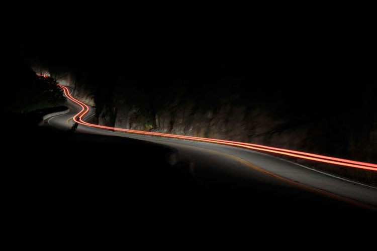 Illuminated Light Trail Long Exposure Motion Night No People Outdoors Road Speed Transportation Lost In The Landscape Fresh On Market 2017