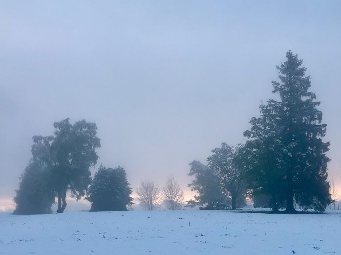 Sonnenuntergang Mai 2019 Wintereinbruch